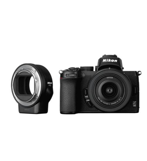 Nikon - Z50 body zwart + 16-50mm F/3.5-6.3 VR + FTZ adapter