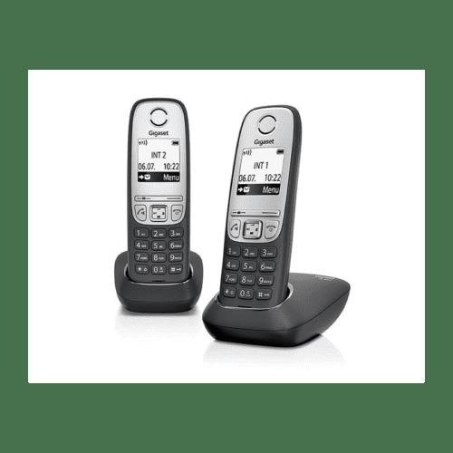 Siemens - Gigaset A415 duo Dect telefoon zwart / zilver